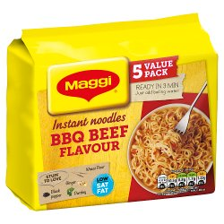 MAGGI 3 Minute Instant BBQ Beef Flavour Noodles 5 x 59g