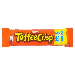 Toffee Crisp Milk Chocolate Bar 38g 2 For £1