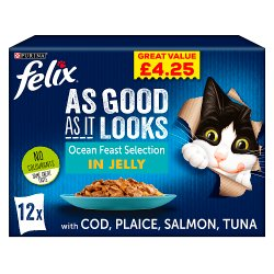 Felix As Good As It Looks Cat Food Ocean Feasts 12 x 100g