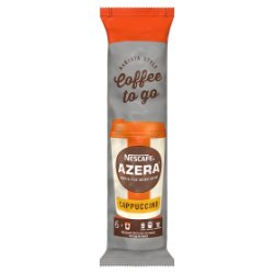 NESCAFÉ Azera To Go Cappuccino Instant Coffee, Sleeve of 6 Cups with Lids
