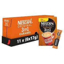 Nescafe Original 3in1 Caramel Instant Coffee, 6 sachets x 17g