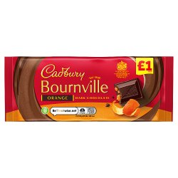 Cadbury Bournville Orange Dark Chocolate Bar £1 100g
