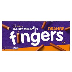 Cadbury Dairy Milk Orange Fingers Chocolate Biscuits 114g