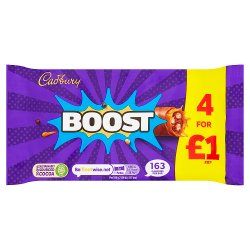 Cadbury Boost Chocolate Bar £1 4 Pack 126g