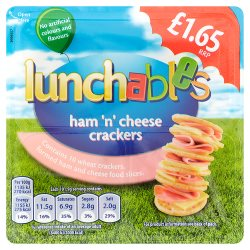 Lunchables Ham 'n' Cheese Crackers £1.65 101.9g
