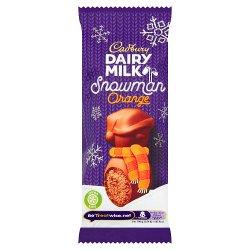 Cadbury Dairy Milk Orange Mousse Snowman Chocolate 30g