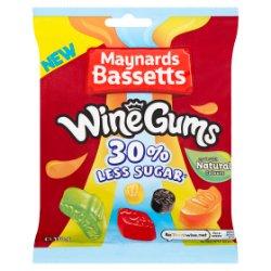 Maynards Bassetts Wine Gums 30% Less Sugar Sweets Bag 130g