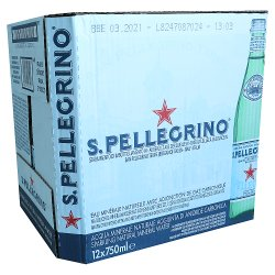 San Pellegrino Sparkling Natural Mineral Water Glass 12x750ml