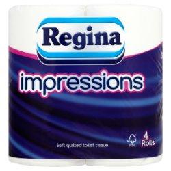 Regina Impressions Soft Quilted Toilet Tissue 4 Rolls