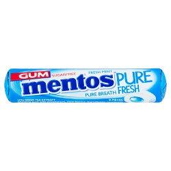 Mentos Gum Pure Fresh Fresh Mint 8 Pieces 15.5g