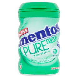 Mentos Gum Sugar Free Pure Fresh Spearmint Bottle 50pcs