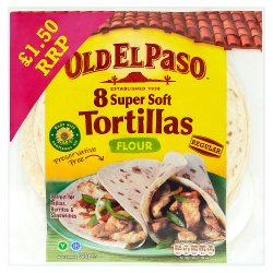 Old El Paso Regular Super Soft Flour Tortillas x8 326g
