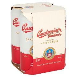 Budweiser Budvar Original Czech Imported Lager 4 x 500ml