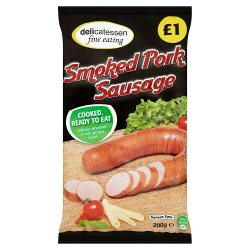 Delicatessen Fine Eating Smoked Pork Sausage 200g