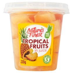 Nature's Finest Tropical Fruits in Juice 220g