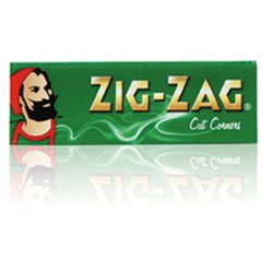 Zig Zag Cut Corners 50 Gummed Rolling Papers