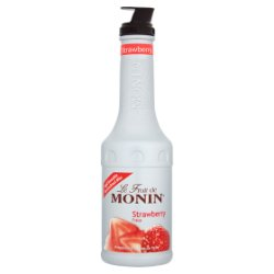 Monin Strawberry Fruit Puree Mix 1L