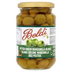 Beldi Pitted Green Manzanilla Olives 354g