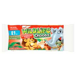 Wildlife Choobs Strawberry Flavour Yogurt 6 x 40g