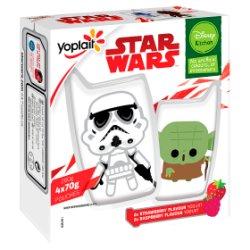 Disney Kitchen Star Wars Strawberry & Raspberry Flavour Yogurt Pouches 4 x 70g