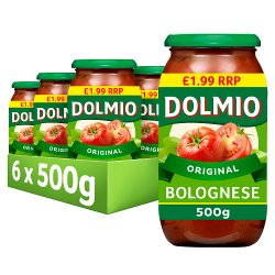 Dolmio Bolognese PMP £1.99 Pasta Sauce 500g