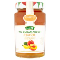 Stute No Sugar Added Peach Extra Jam 430g