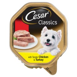 CESAR Classics Dog Tray with Tender Chicken and Turkey in Loaf 150g