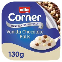 Müller Corner Vanilla Yogurt with Chocolate Balls 130g