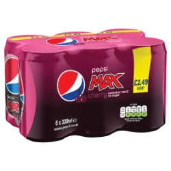 Pepsi Max Cherry 6 x 330ml