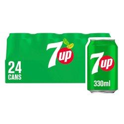 7UP Regular Lemon & Lime Can 24x330ml