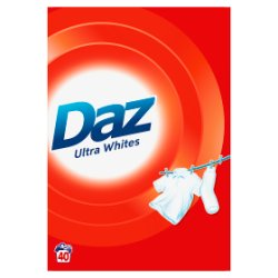 Daz Washing Powder Ultra Whites 2.6Kg 40 Washes