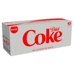 Diet Coke 10 x 330ml PM £4.35