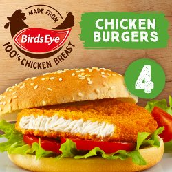 Birds Eye 4 Chicken Burgers with Golden Wholegrain 200g