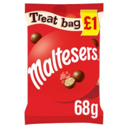 Maltesers Fairtrade Chocolate Treat Bag Price Marked Pack 68g