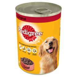 PEDIGREE Dog Tin Original in Loaf 400g (MPP 75p / 2 for £1.40)