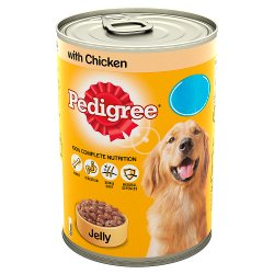 Pedigree Dog Food Tin Chicken in Jelly 385g MPP 85p