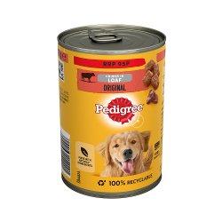 Pedigree Adult Wet Dog Food Tin Original in Loaf 400g (PMP 95p)