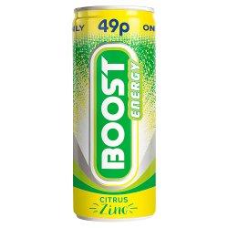 Boost Energy Citrus Zing 250ml