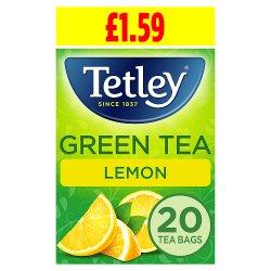 Tetley Green Tea Lemon 20 Tea Bags 40g