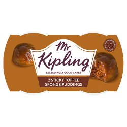 Mr Kipling Sticky Toffee Sponge Puddings 2 x 95g