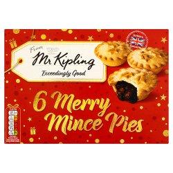 X Mr Kipling 6 Mince Pies