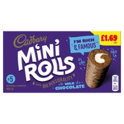 Cadbury 5 Mini Rolls Milk Chocolate