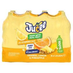 Jucee No Added Sugar Orange, Lemon & Pineapple 8 x 1.5 Ltr