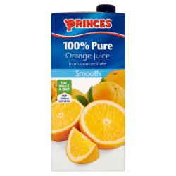 Princes 100% Pure Orange Juice from Concentrate Smooth 1 Litre