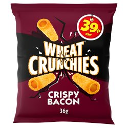 Wheat Crunchies Crispy Bacon Flavour Wheaty Tubes with a Serious Crunch 36g