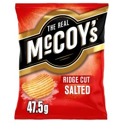 The Real McCoy's Salted Flavour Ridge Cut Potato Crisps 47.5g
