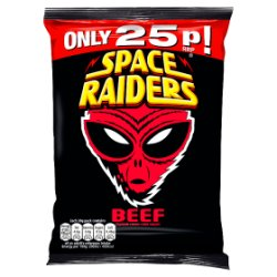 Space Raiders Beef Flavour Cosmic Corn Snacks 20g