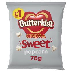 Butterkist Cinema Sweet Popcorn 76g £1 PMP