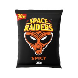 Space Raiders Spicy Flavour Cosmic Corn Snacks 25g