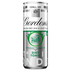 Gordon's London Dry Gin and Diet Tonic 250ml PMP £1.69